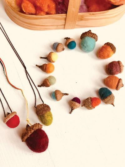 Felting Acorns Fun, Hands-on Activity for All