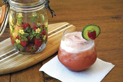 Strawberry Cucumber Lime Cooler