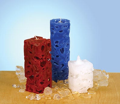 Use Ice to Make Artistic Candles