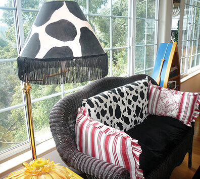 Get Creative with Cow-Print Lampshade