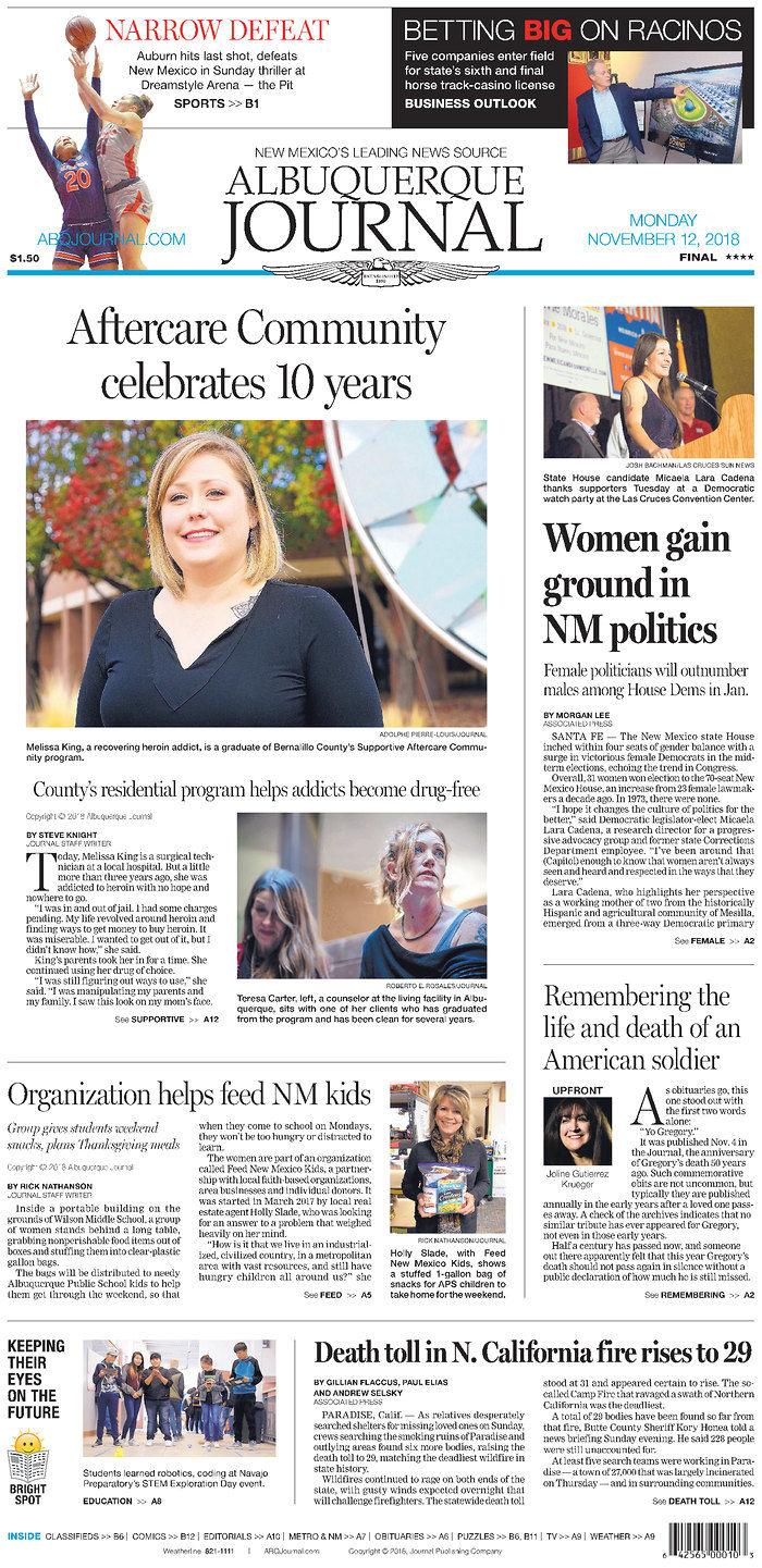 Albuquerque Journal 11-12-18