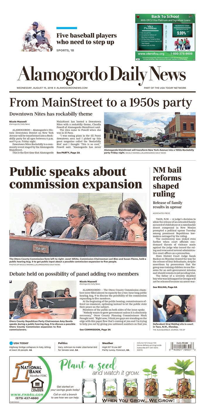 Alamogordo Daily News 8-15-18