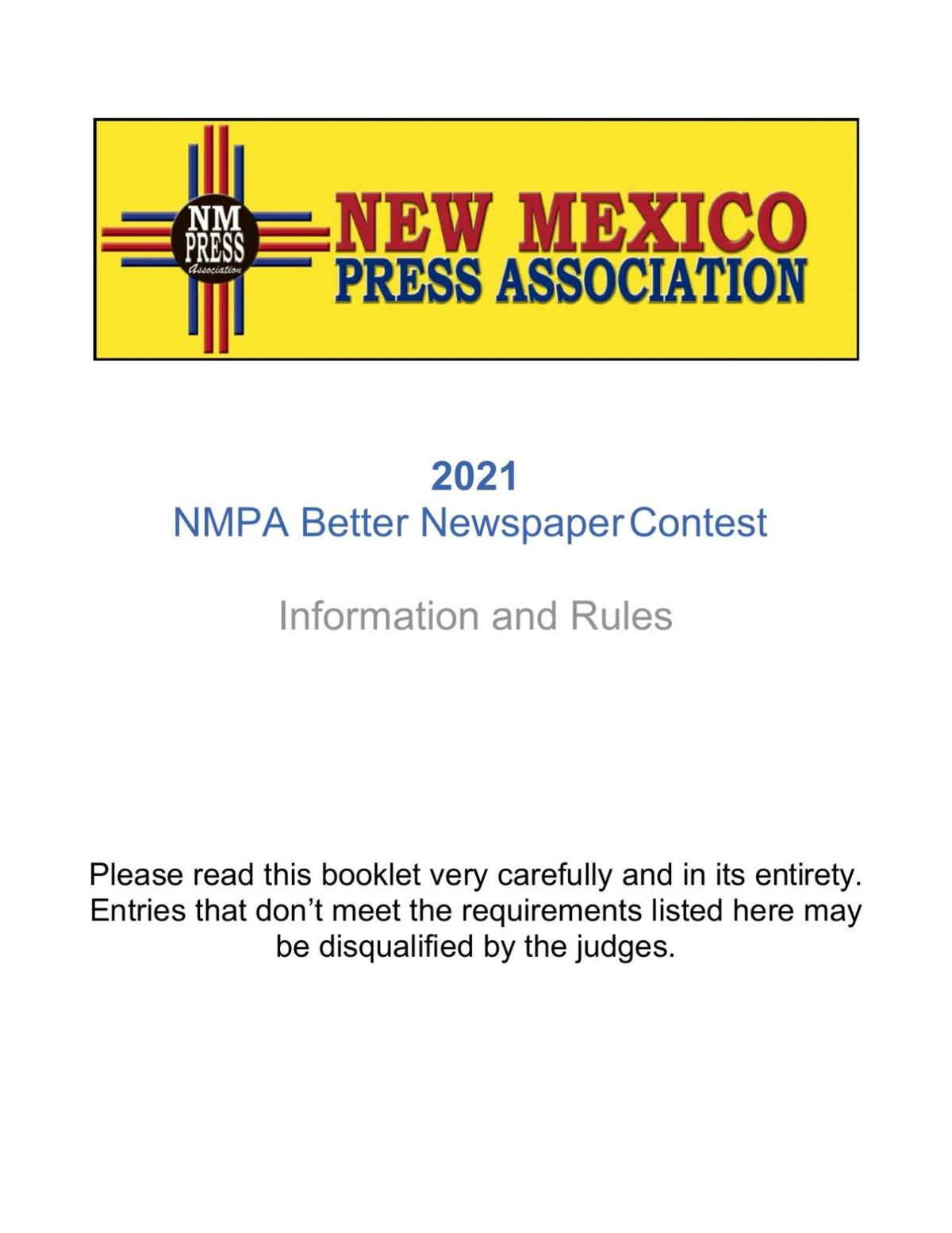 2021 NMPA Contest Information and Rules