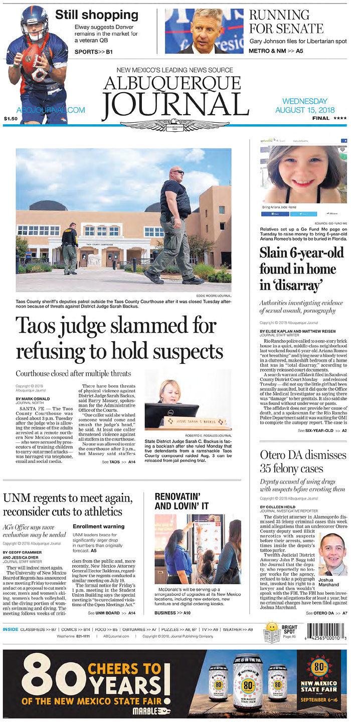 Albuquerque Journal 8-15-18