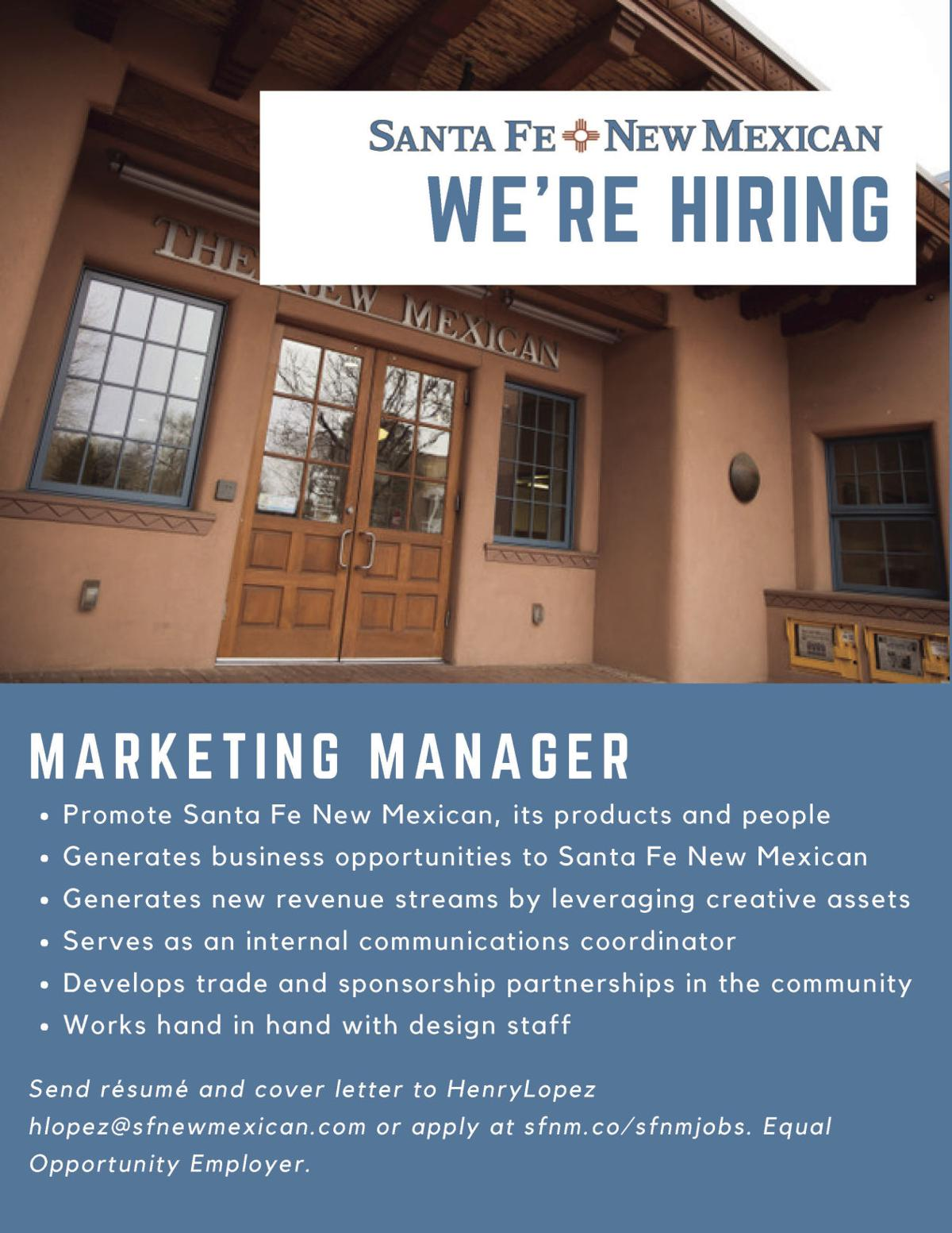 Marketing Manager Flyer