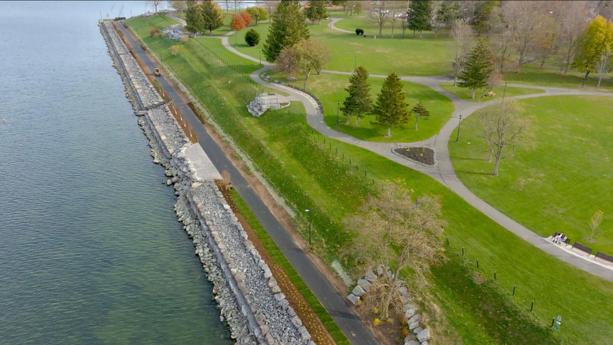 Breitbeck Park Harbor Trail shoreline protection project complete