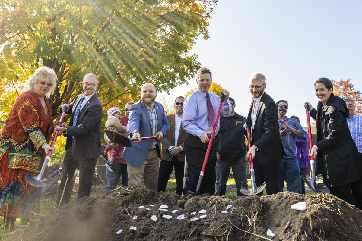 Groundbreaking for city pool marks 'historic day'