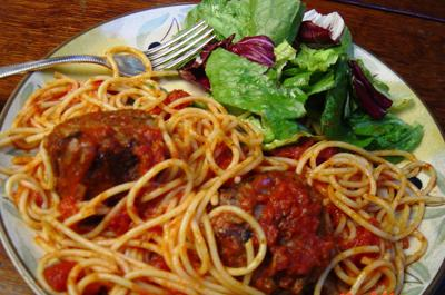 Spaghetti and meatballs even better 2nd day