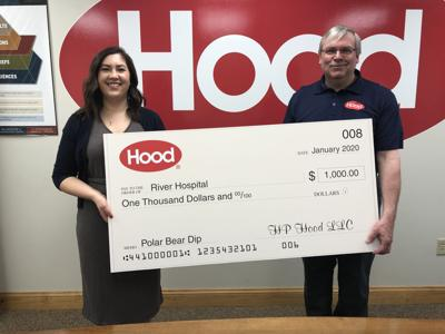 Hood donates $1,000 to River Hospital's polar Bear dip