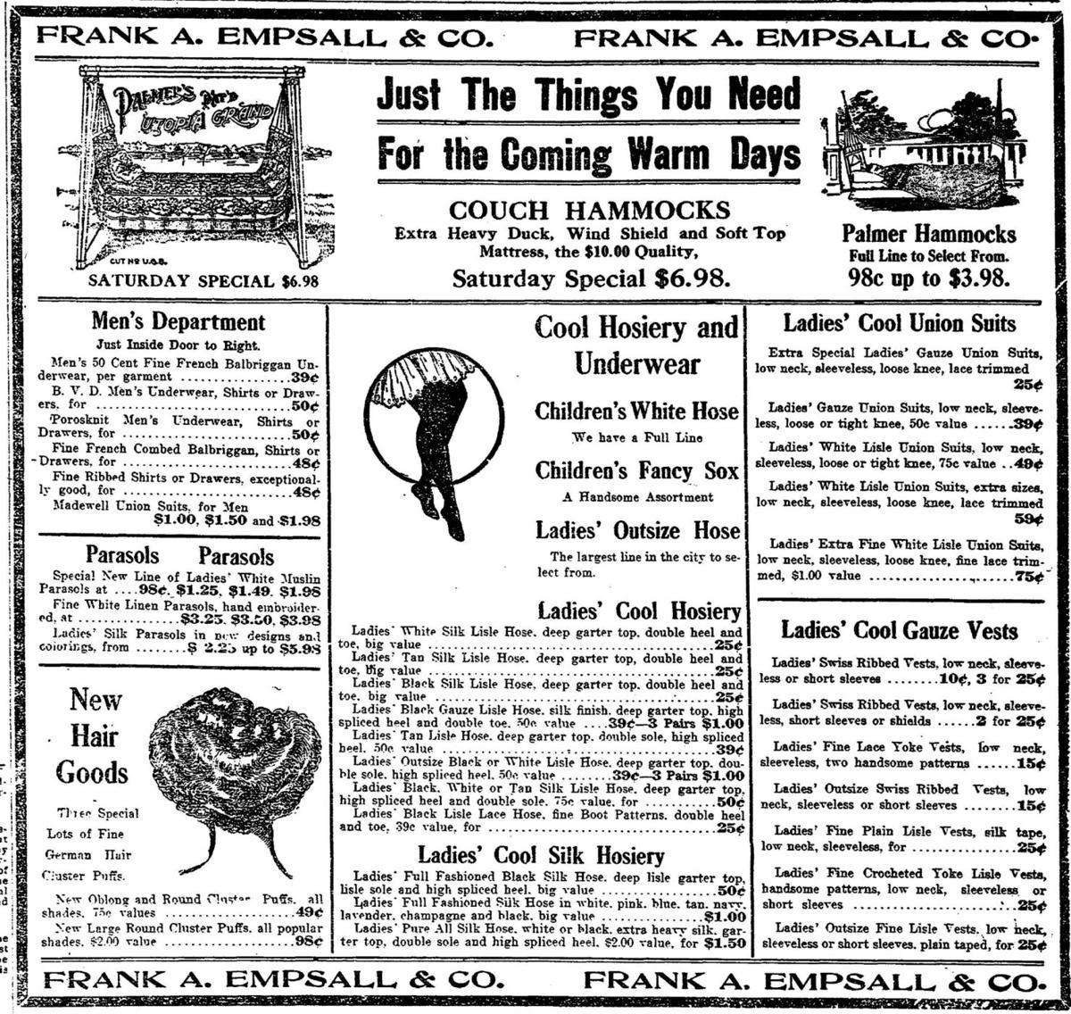 A Frank A. Empsall & Co. advertisement