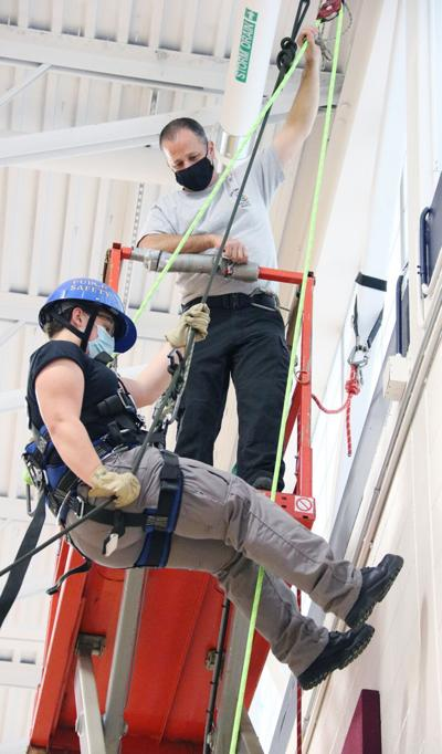 Rappelling activity provides safety, life lessons for CiTi's public safety students