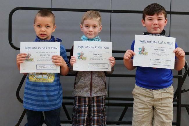 Fourth quarter awards at Sandy Creek Elementary School