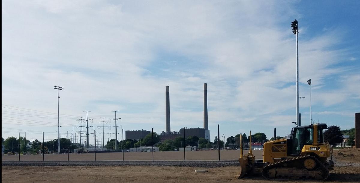 Oswego's new athletic stadium almost complete