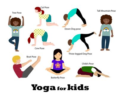 Easy yoga exercises to keep kids focused during the day