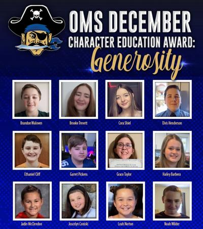 OMS honors students for generosity
