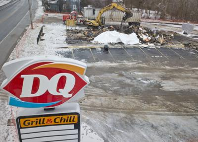 Dairy Queen razed with plans to rebuild