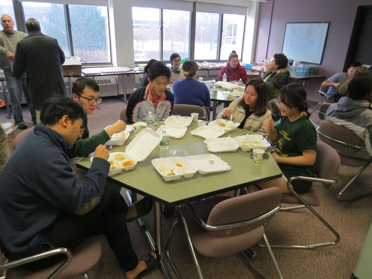 Free Thanksgiving Day dinner provided by Oswego Alliance Church