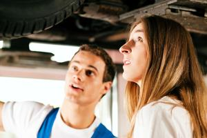 Women often overcharged for automobile repair; these 5 tips can help keep costs down.