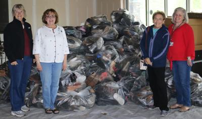 massena hospital auxiliary donates shoes