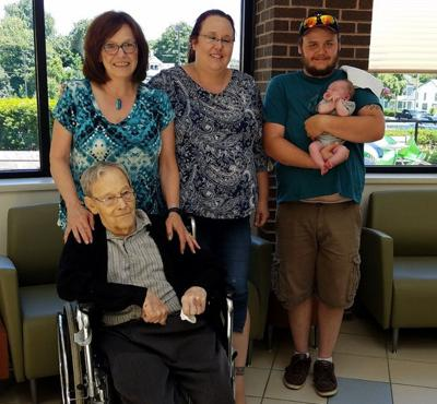 Five generations of the flanagan family