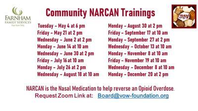 NARCAN training via Zoom