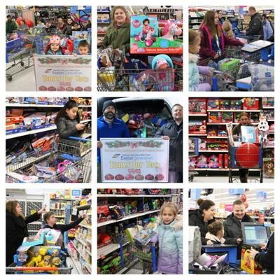 Charles E. Riley student council members help with a community Christmas
