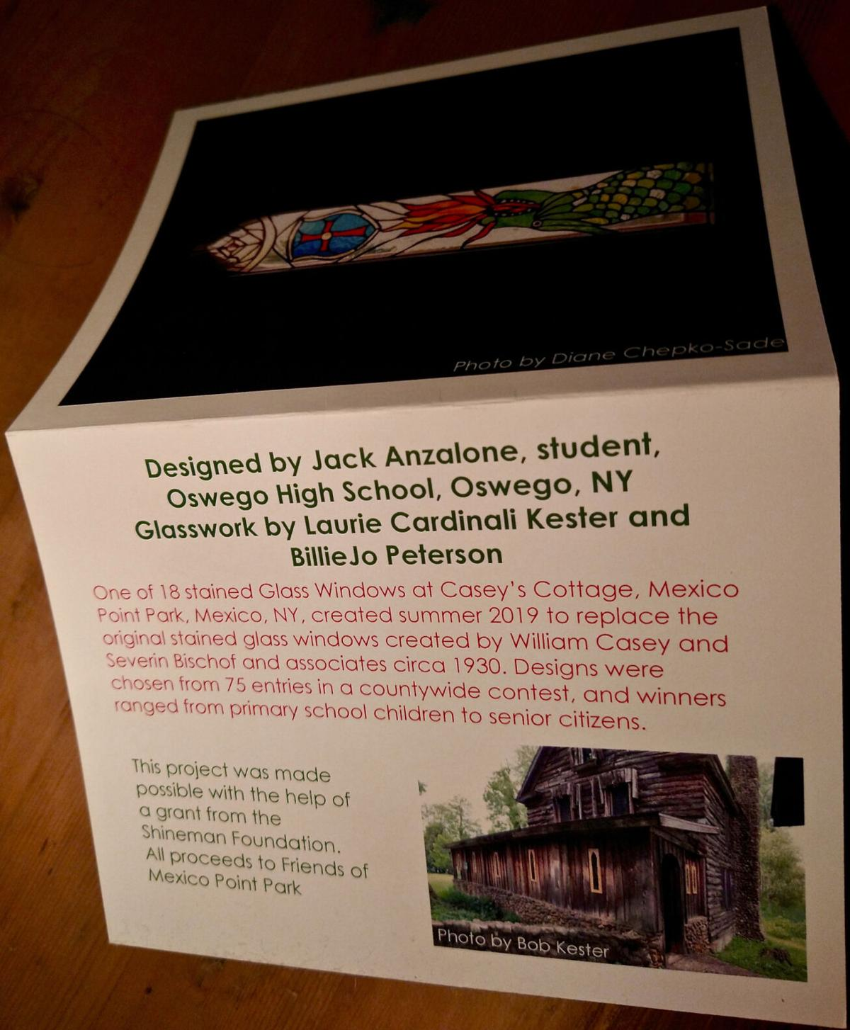 Friends of Mexico Point Park feature stained-glass window note cards to light up Casey's Cottage