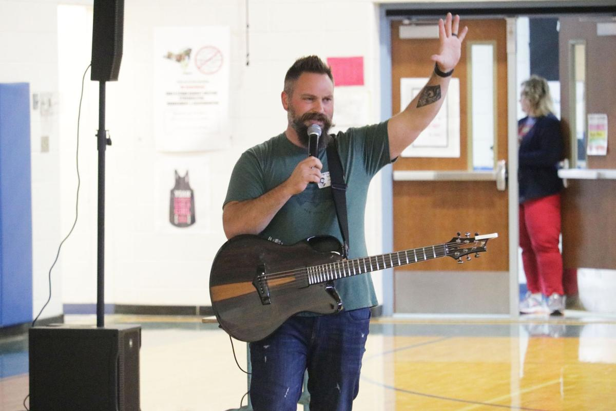 Musician Jared Campbell rocks APW, brings uplifting message to the students