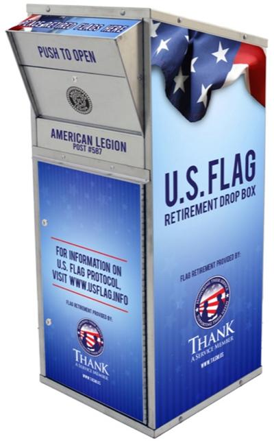 Organizations support Thank a Service Member community-wide US flag retirement project