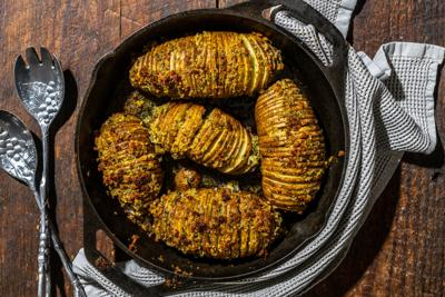 Hasselback: Because who doesn't like crispy-edged potatoes?