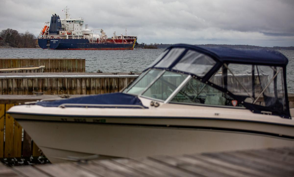 Sighting of liquid natural gas-powered vessel gives area peek at cleaner option in shipping