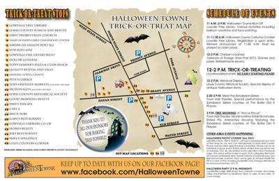 Lowville trick-or-treat map