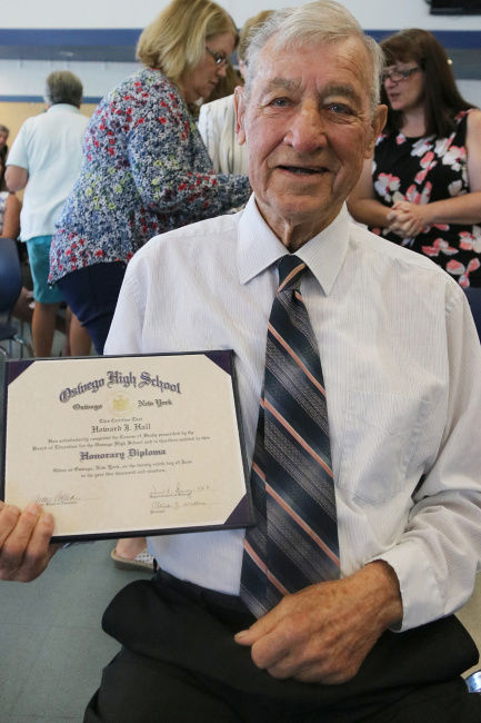 OCSD awards honorary diploma to Howard Hall, 99