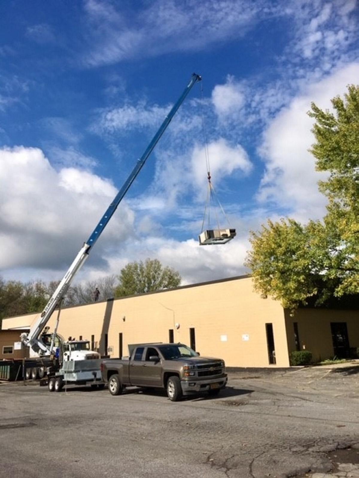 Infrastructure improvements made at Oswego Industries through NYS Grant