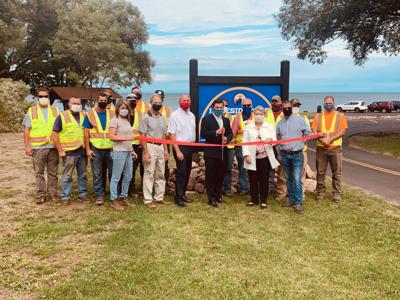 Mayor Barlow announces completion and opening of new Lakeside Park