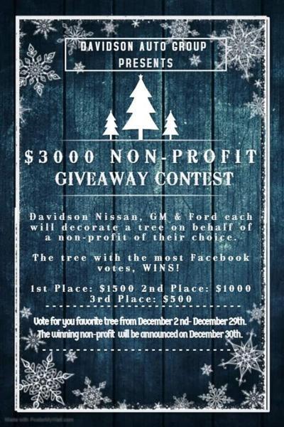 Davidson hosting contest to benefit nonprofits