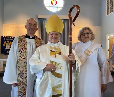Shelly Banner, local educator and deacon, ordained to priesthood in online service