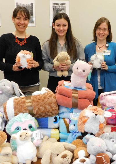 Hospital recieves donation of blankets, stuffed toys