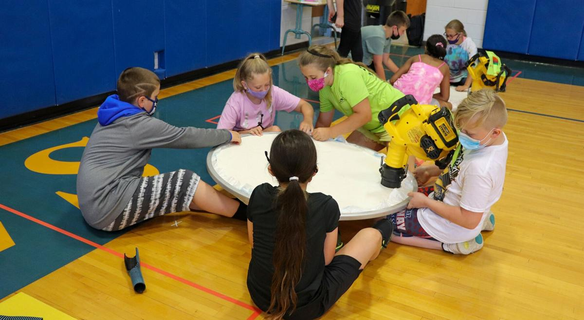 APW fifth-graders participate in hovercraft activity