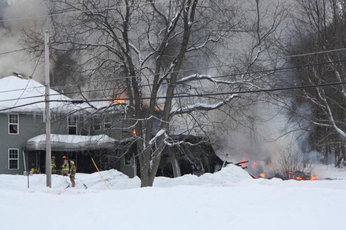 Fire damages home in Malone