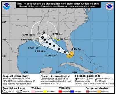 Tropical Storm Sally closes in on Florida