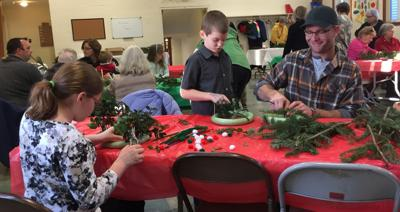 Wreath making event for all ages