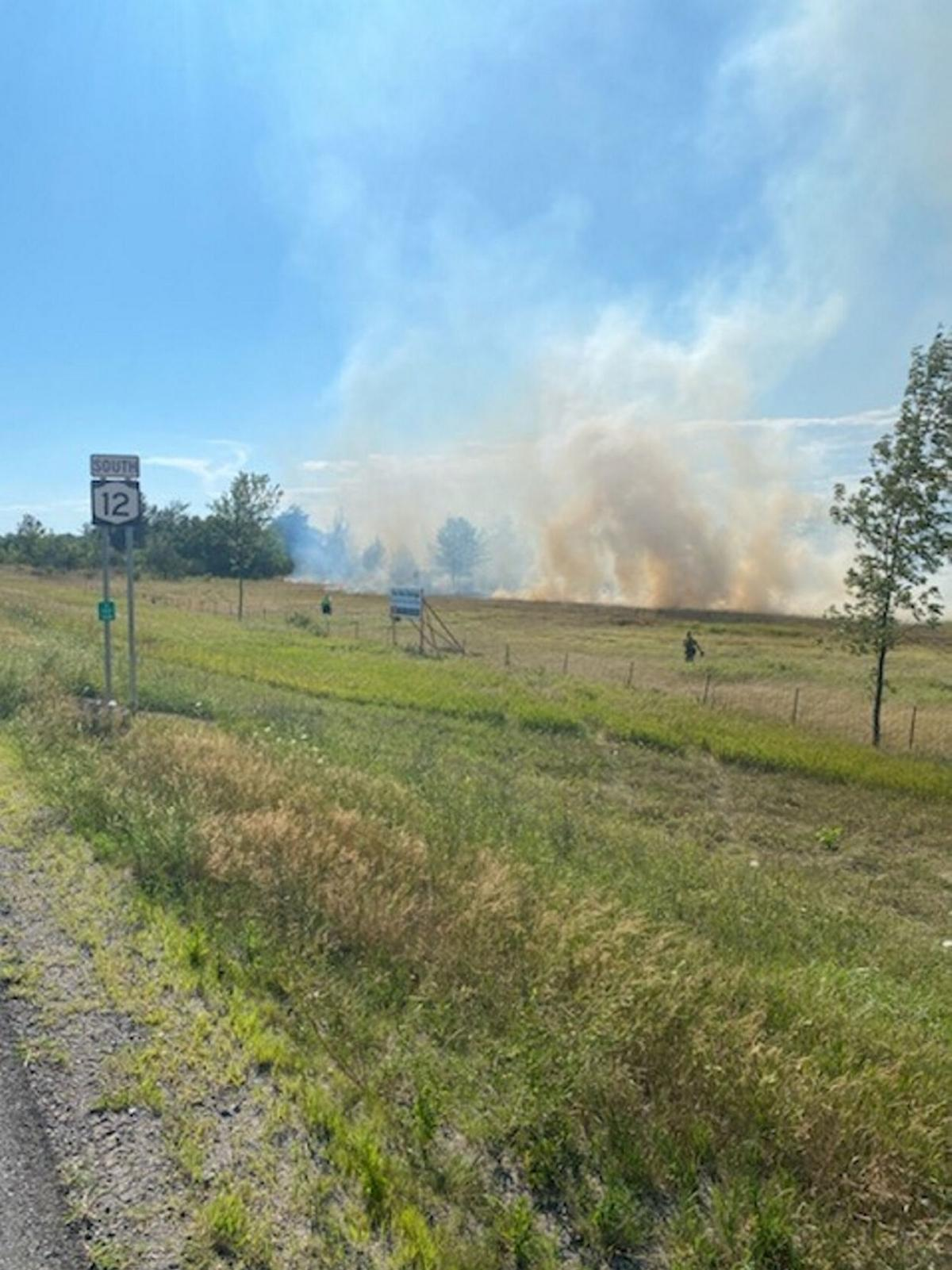 Separate brush fires keep crews busy