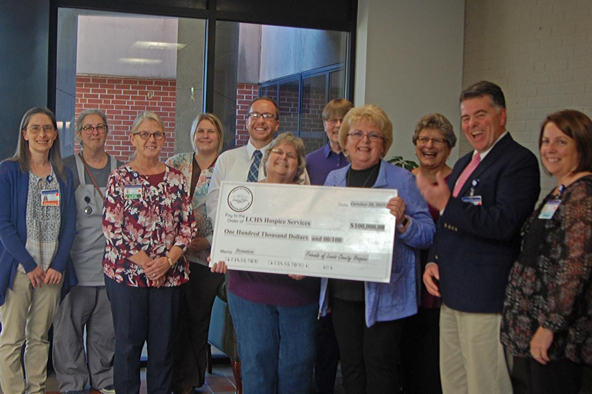 Hospice group donates $100K to Lewis hospital
