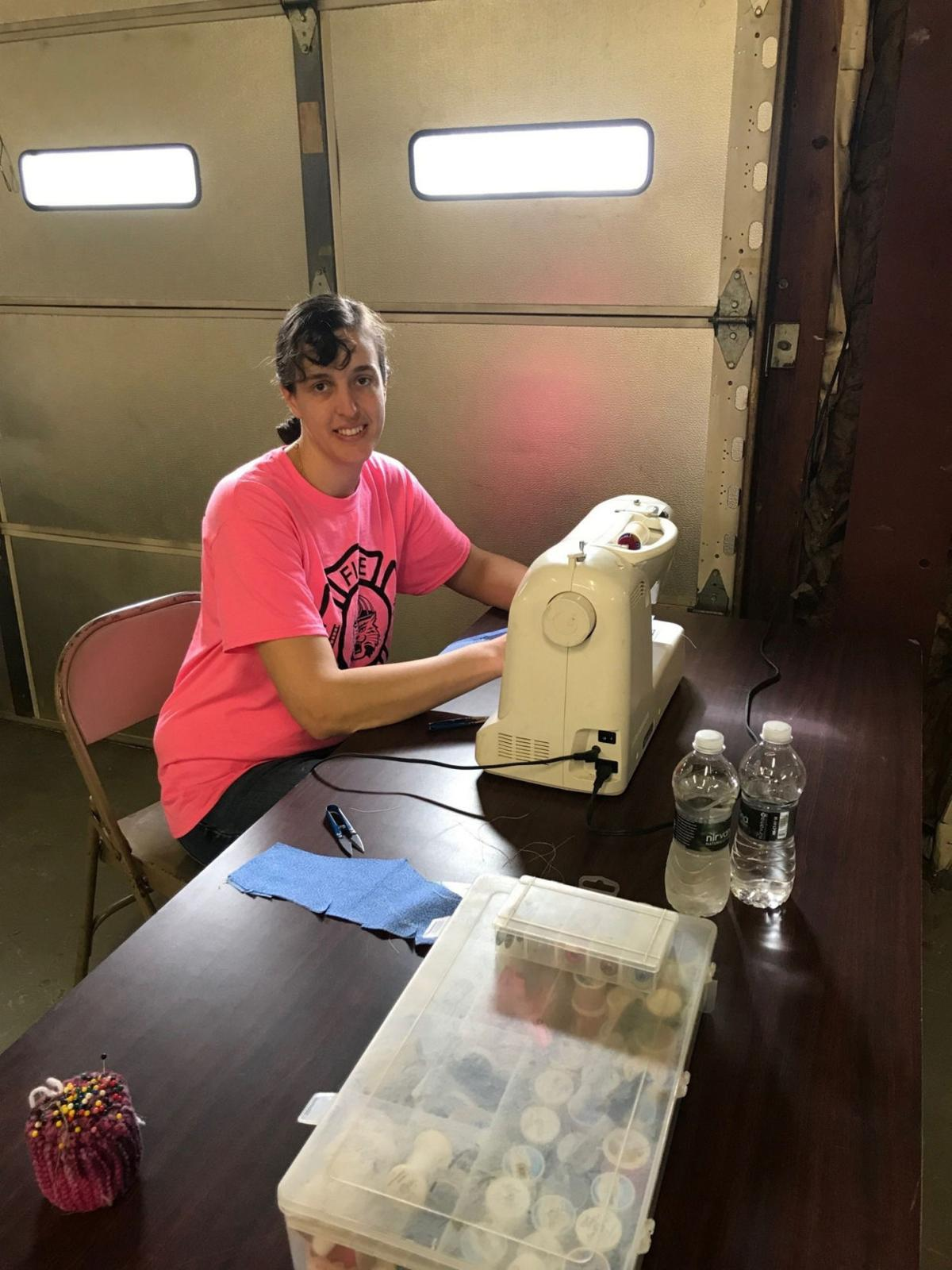 Orwell community groups cut across the generations to sew for Oswego County's COVID-19 responders