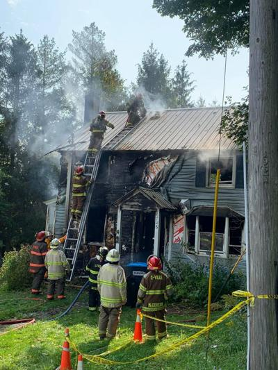 Fire destroys home, kills family pet in Lyons Falls