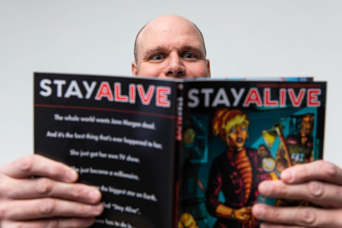 COMICEDIC violence Watertown man writes script for thought-provoking violent graphic novel