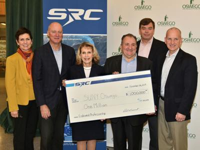 $1 million gift from SRC Inc. establishes endowed professorship in engineering at SUNY Oswego