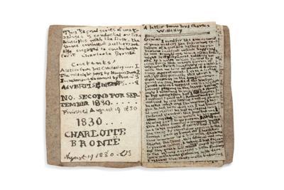 A tiny Brontë book comes home again