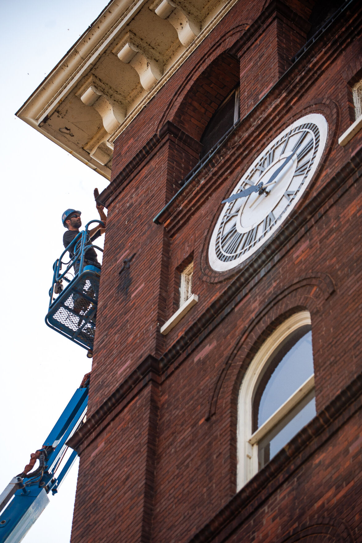 RETURN TO GLORY Bell tower under repair at historic church